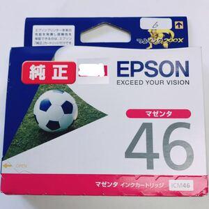 未使用 ★ EPSON エプソン 純正 インク カートリッジ 46 マゼンタ ICM46 ★ プリンタ 推奨使用期限切れ ★ 6