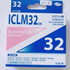 未使用 ★ EPSON エプソン インク カートリッジ 32 ライト マゼンタ ICLM32 互換 ★ プリンタ 推奨使用期限切れ ★ 10-1~8