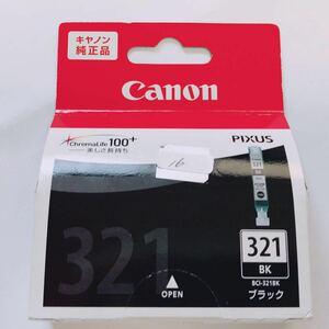 未使用 ★ Canon キャノン 純正 ピクサス インク カートリッジ 321 ブラック ★ プリンタ 取付期限切れ ★ 16