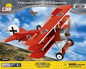 絶版 ☆ COBI ブロック ☆ Small Army Great War シリーズ ☆ フォッカー Dr.1 レッドバロン Fokker Dr.1 Red Baron ☆ 新品 ☆ EU製