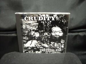 輸入盤CD/CRUDITY/THE TOTAL END-DISCOGRAPHY/80年代スウェーディッシュハードコアパンクHARDCORE PUNKスウェーデンSWEDENスカンジ北欧