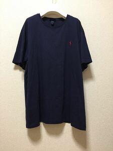 USA古着 Polo by Ralph Lauren ラルフローレン ワンポイント 半袖Tシャツ BIGシルエット ネイビー XL /ワンピ