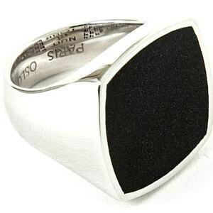 本物 新品 TOMWOOD トムウッド Flush Onyx Square Ring フラッシュオニキススクエアリング 指輪 シルバー 56 16号