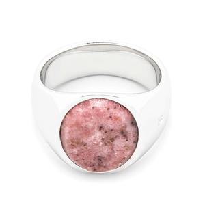 名作 本物 新品 TOMWOOD トムウッド Oval Pink Rhodonite Ring オーバルピンクロードナイトリング 指輪 シルバー 60 20号