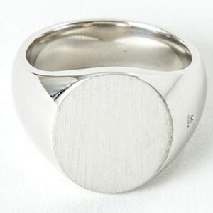 名作 本物 新品 TOMWOOD トムウッド Oval Satin Ring オーバルサテンリング 指輪 シルバー 64 24号