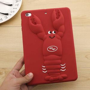 iPad Pro 10.5 ケース アイパッドプロ ケース (10.5インチ) 背面カバー シリカゲルケース ザリガニ