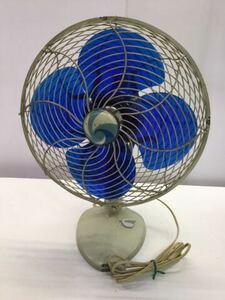 TOSHIBA アンティーク扇風機 動作OK 4枚羽根 昭和レトロ 希少 レア 東芝 古道具 ELECTRIC FAN 骨董