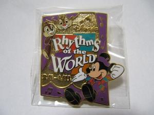 TDS 東京ディズニーシー Rhythms of the WORLD ミッキー チップ デール ピンバッジ 非売品 TDR 東京ディズニーリゾート ピンズ