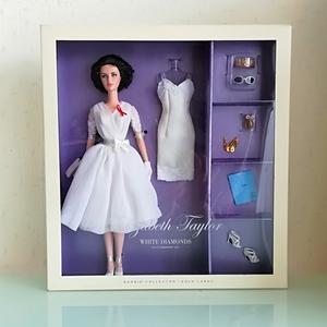 バービー人形 ホワイトダイヤモンド ゴールドラベル エリザベス・テイラー 女優 barbie collector gold label elizabeth taylor