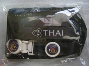 【新品/非売品】TGタイ国際航空オフィシャルネックストラップIDケース ブラック 一個