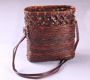新品 夏最適 竹編み上げ カゴバック  手作りバスケット お洒落買い物カゴ 可愛いショルダーバック