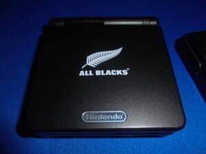 送料無料 ゲームボーイアドバンスSP 本体  GBASP オールブラックスモデル  限定本体  美品