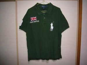 ラルフローレン ビッグポニー半袖ポロシャツ緑Mサイズ グレートブリテン