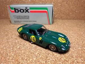モデル box MODEL ボックス モデル FERRARI 250GTO 1963 Tourist Trophy フェラーリ 250 GTO 1/43 イタリア製 未展示 NO.8403
