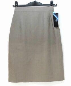 【新品】HINUCK ハイナック スカート グレー系 5号/事務服/OL/受付/制服/オフィス/ユニフォーム 洗濯OK