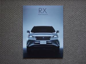 【カタログのみ】LEXUS RX 2012.04 RX450h RX350 RX270 検 TOYOTA