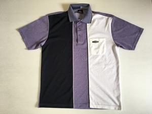 ダンロップ ポロシャツ ゴルフウェア ドライポロシャツ ストレッチ 日本製   マルチカラー ストレッチ ロゴボタン 石