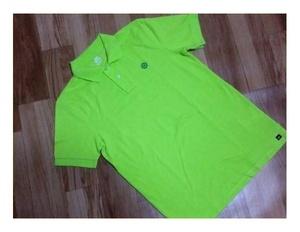 新品同様◆ NIKE ◆ ナイキ ◆ FIT DRY 鹿の子 ロゴ 刺繍入り 半袖 ポロシャツ◆ M ◆ メンズ ◆ 黄緑色 系 ◆ 綿 ◆ ゴルフ ◆送料198円
