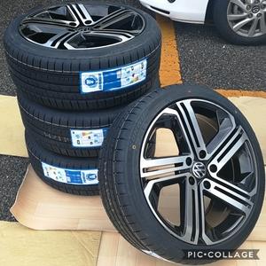 VW ワーゲン ゴルフ5 ゴルフ6 ゴルフ7 18インチ 新品4本タイヤ付き!▼
