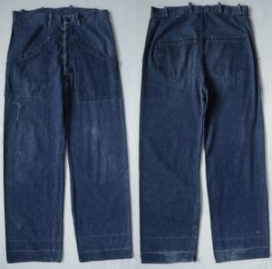 40's US NAVY  Джинсовые брюки  W36  ~  37/ сбор винограда   Старый   Америка  Старая одежда   Бей  автомобиль   Марин   Indigo  WW2  ...   мм  Tally   ретро