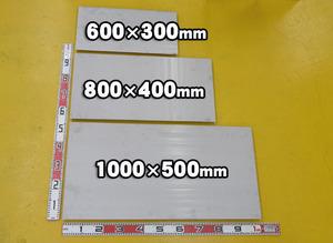 ステン板(No.1)未研磨(3.0~6.0mm厚)の(1000x500~300x200mm)定寸・枚数販売S11