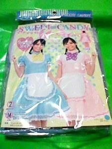 SWEET CANDY ウサミミメイド ブルー ワンピース うさ耳カチューシャ 2点セット Mサイズ