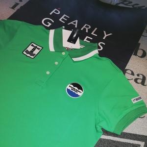 新品本物正規品 マスターバニー パーリーゲイツ サイズ1 プレミアム素材 シワなし ポロシャツ 送料無料 エメラルドグリーン