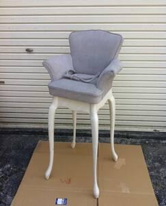 ☆ 送料無料 希少 アンティーク レトロ ロココ 調 子供 用 ダイニング リビング チェア イス 椅子 モデル 写真館 撮影 什器 にも