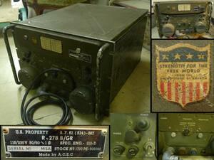 SALE 【黒檀堂】当時物 1953年製 USA/アメリカ軍 ラジオレシーバー「R-278B/GR」/軍事無線機/g603/引き取りor自手配
