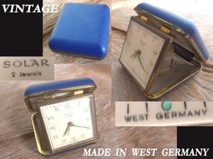 西ドイツ west Germany製 ビンテージ Solar Watch With Case コンパクト時計 2 Jewels アンティーク