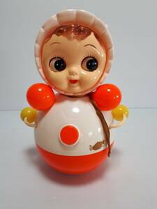 当時物 セルロイド 起き上がりこぼし おきあがり こぼし 人形 赤ちゃん 昭和レトロ 中古 (H565)