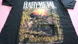 new goods unused BABYMETAL THE DARK KNIGHTS BEGIN T-shirt WORLD TOUR 2015 official thing . abroad L size tultex North America baby metal bebimeta
