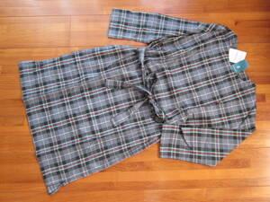 アフタヌーンティー オリジナル タータン チェック ワンピース 限定 未使用 タグ付 女性 レディス M ブラックティー コットン 綿