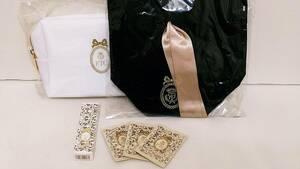 新品 未使用 未開封 フェリーチェトワコ ベロアミニ巾着 コスメポーチ リップグロスEX FFファンデーション 6点セット オリジナル