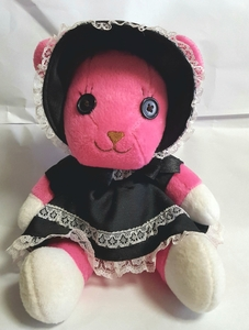 正規品 景品 非売品 タイトー ポストペット ゴスロリ モモ ぬいぐるみ POSTPET Lolita MOMO stuffed toy doll Bear プライズ TAITO ベア 熊