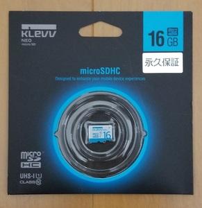 [新品・未開封] microSDHCカード ESSENCORE KLEVV NEO 16GB CLASS10 UHS-1対応 超高速転送 U016GUC1U18-A