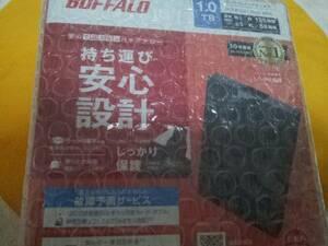 BUFFALO バッファロー ポータブル ハードディスク 1TB HD-PCG1.0U3-BBA 持ち運び安心設計