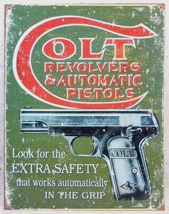 コルト 拳銃 メタル サインプレート [即決]