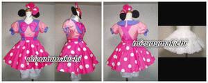 ディズニー風コスチューム◆トゥーン:ミニーちゃん風 コスプレ衣装+バニエ+短パンの商品画像