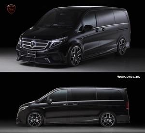 【WALD Black-Bison】 Mercedes-Benz W447 Vクラス 2015y~ 3点 キット V220d ブラックバイソン エアロ スポイラー フロント リア バンパー
