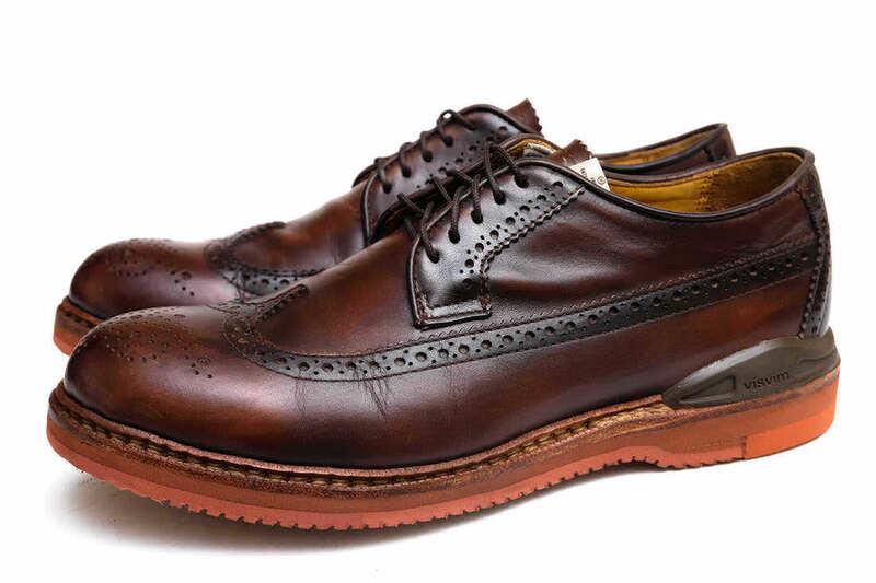 定価60900円!VISVIM ビズビム カジュアルシューズ 靴 PATRICIAN W.T-FOLK DK.BROWN US9.5 メンズ レザー 革 x3953