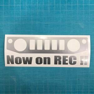 ドライブレコーダー ステッカー JB64W ジムニー スズキ クロカン JIMNY リフトアップ 林道 ステンシル 4wd 世田谷ベース