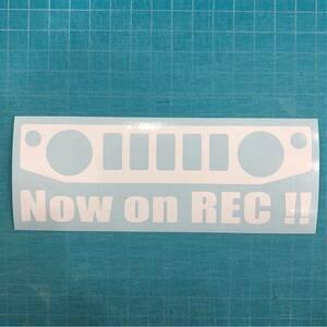 ドライブレコーダー ステッカー 白色 JB64W ジムニー スズキ クロカン JIMNY リフトアップ 林道 ステンシル 4wd 世田谷ベース