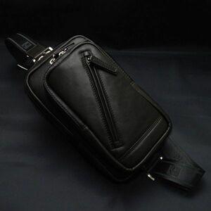 ☆ ショルダーバッグ ワンショルダーバッグ メンズ ボディバッグ 斜めがけ 本革 かっこいい ショルダーバック 馬革 革 レザー 16375 黒 ☆