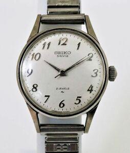 セイコー SEIKO Salvia 手巻 腕時計 21JEWELS 1104-0030 伸縮ベルト ヴィンテージ