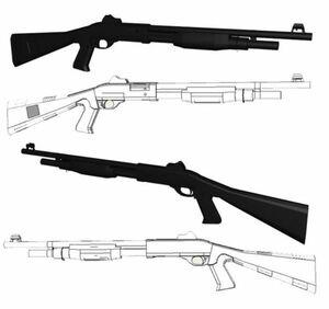 模型 ペーパークラフト 高級防水紙 m3 ショットガン 散弾銃