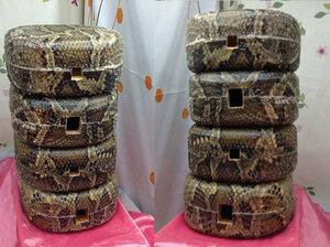 (送料無料)83.980円 沖縄三線専用 蛇皮強化(二重張)型チーガ8個セット販売