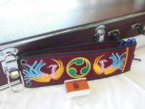 (送料無料)17.980円 沖縄三線専用ハードケース、胴巻き付蛇皮強化(二重張)型チーガ、滑り止め松脂セット