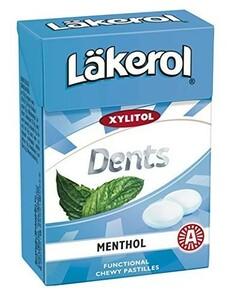 レイクロール デンツ 85g x 1箱 メンソール 味 キシリトール キャンディ フィンランドのお菓子です