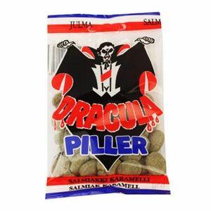 ドラキュラ サルミアッキ キャラメル 辛口 キャンディー 65g x 3袋セット Dracula Piller スゥエーデンのお菓子です